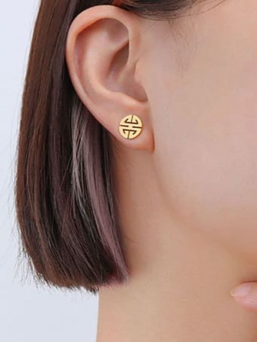 F156 Gold Earrings Titanium Steel  Minimalist Irregular Earring Bracelet and Necklace Set