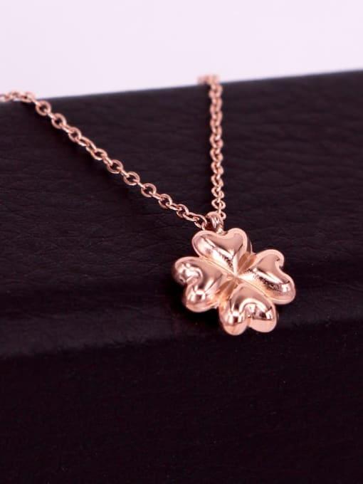 K.Love Titanium Steel Clover Minimalist Necklace 4