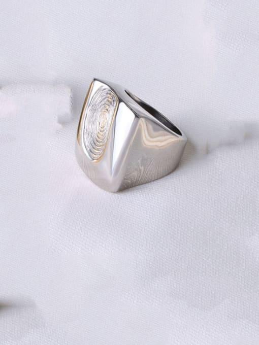 Steel Titanium Steel Irregular Artisan Band Ring