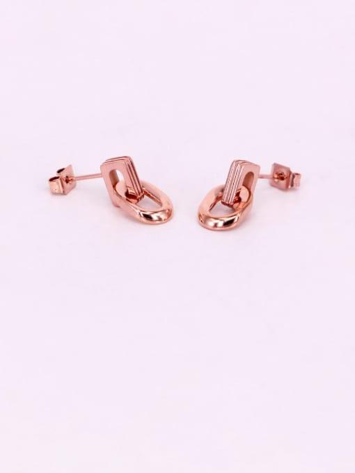 K.Love Titanium Steel Geometric Minimalist Stud Earring 1