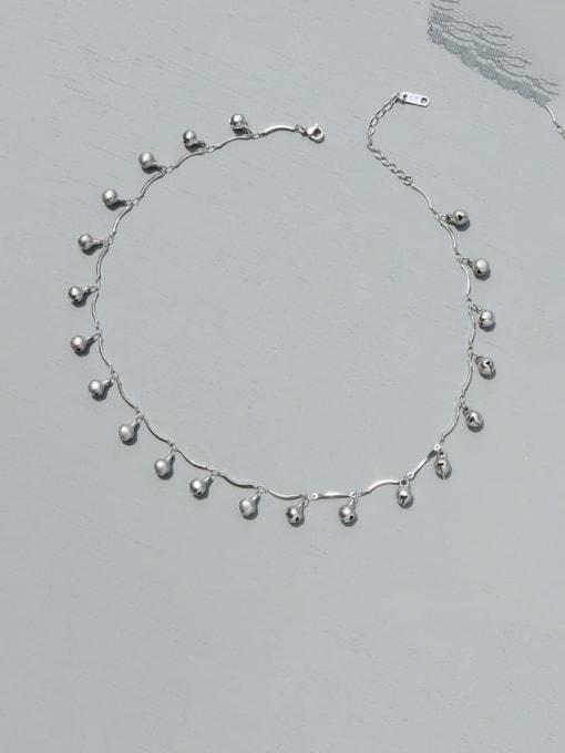 P992 steel bell Necklace Titanium Steel Heart Minimalist Necklace