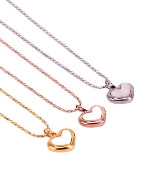 K.Love Titanium Steel Shell Heart Minimalist Necklace 0