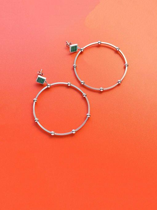 MAKA Titanium Steel Acrylic Geometric Minimalist Drop Earring 2
