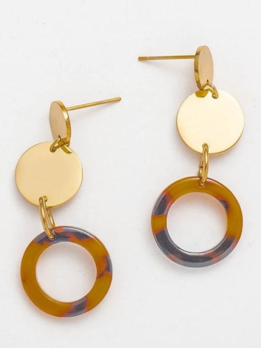 YAYACH Fashion trend acrylic plate titanium steel earrings