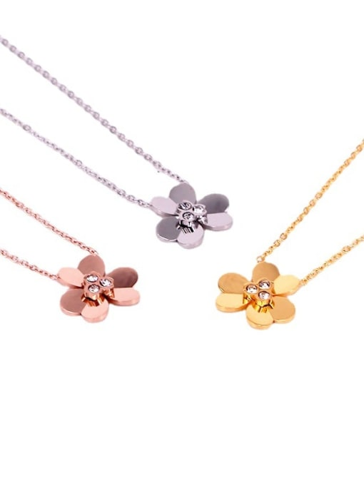 K.Love Titanium Steel Rhinestone Heart Minimalist Necklace 4