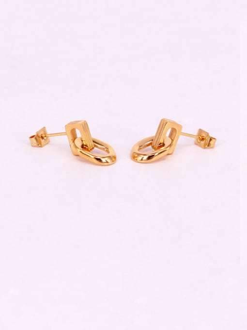 K.Love Titanium Steel Geometric Minimalist Stud Earring 2