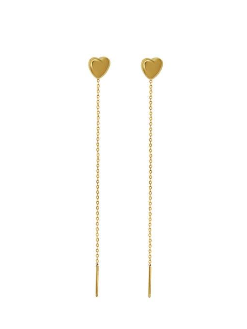 MAKA Titanium Steel Tassel Minimalist Threader Earring 0