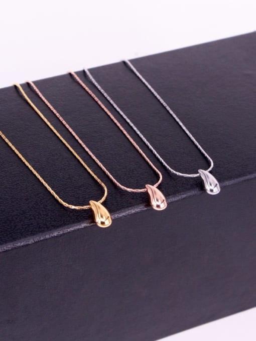 K.Love Titanium Steel Water Drop Minimalist Necklace 1