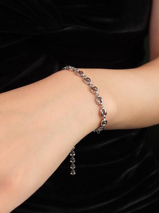 steel color Bracelet 15+ 5cm Titanium Steel  Minimalist Irregular Braclete and Necklace Set