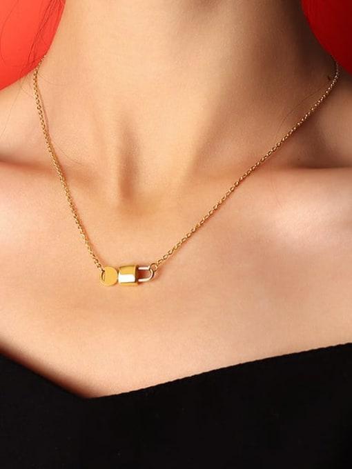 MAKA Titanium Steel Locket  Key Minimalist Necklace 1
