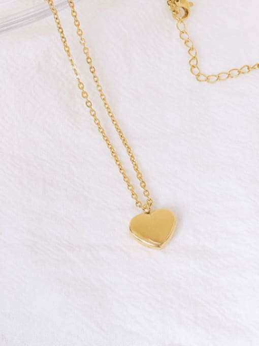 MAKA Titanium Steel Heart Minimalist Necklace 2