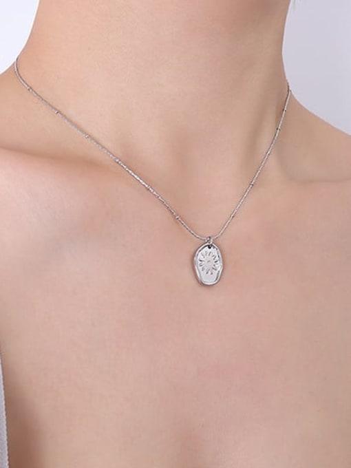P439 Steel Necklace 40+ 5cm Titanium Steel Geometric Minimalist Necklace