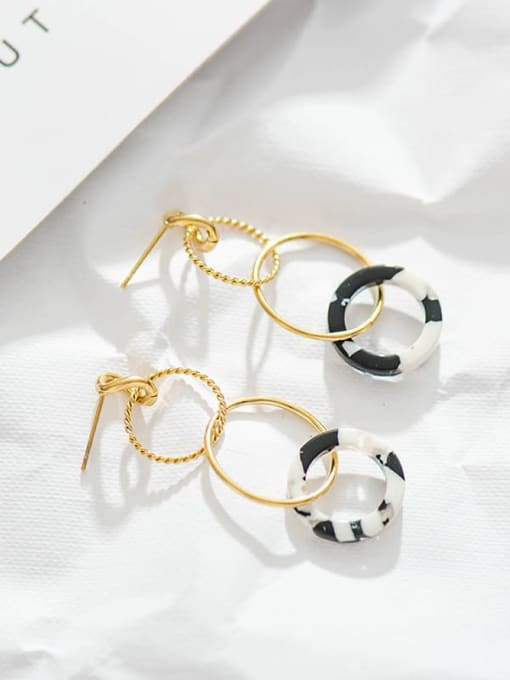 YAYACH Stainless steel circle acrylic Earrings 1