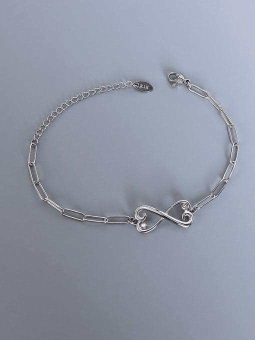 MAKA Titanium Steel Cubic Zirconia Bowknot Minimalist Link Bracelet 2