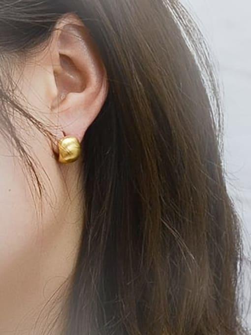 MAKA Titanium 316L Stainless Steel Geometric Minimalist Stud Earring with e-coated waterproof 1