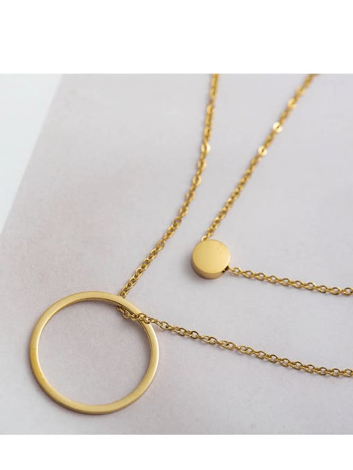 YAYACH Simple circle double necklace 2