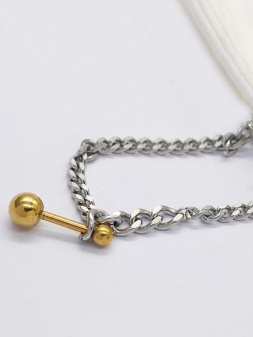 YAYACH Titanium Steel Geometric Hip Hop Link Bracelet 1