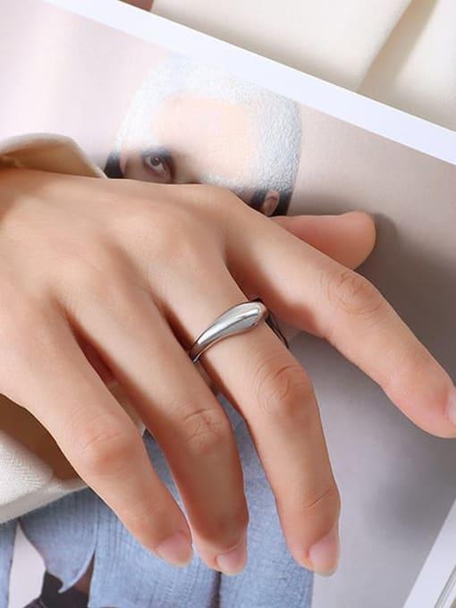 A113 steel ring Titanium Steel  Smooth Geometric Minimalist Band Ring