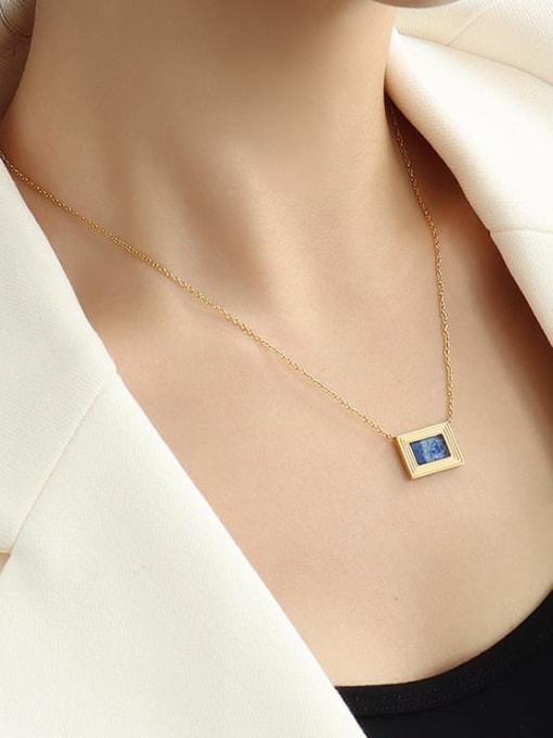 MAKA Brass Cubic Zirconia Geometric Minimalist Necklace 1