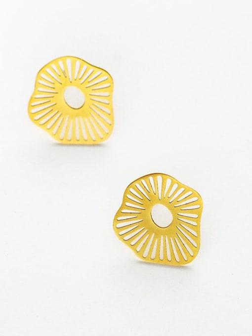 YAYACH Lotus leaf light luxury simple Earrings
