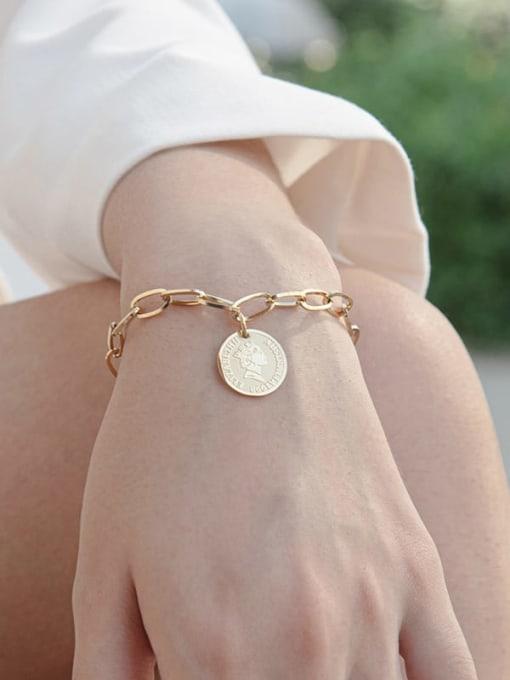 YAYACH Stainless steel Round Trend Link Bracelet 1