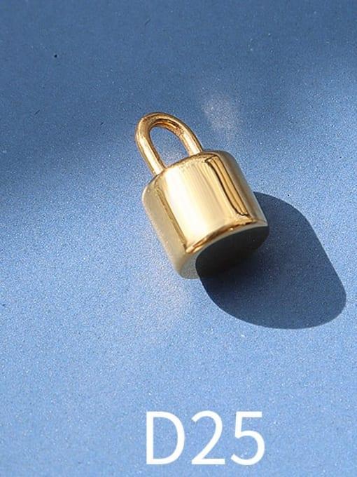 D25 gold cylinder lock Titanium Steel Cute  Lock Heart Pendant