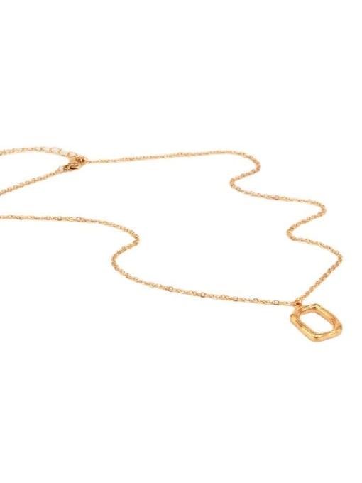 K.Love Titanium Steel Hollow Geometric Vintage  Pendant Necklace 3