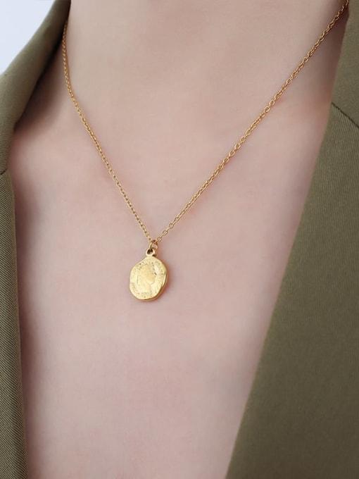 P071 gold necklace 40 5cm Titanium Steel Minimalist Geometric Earring and Necklace Set