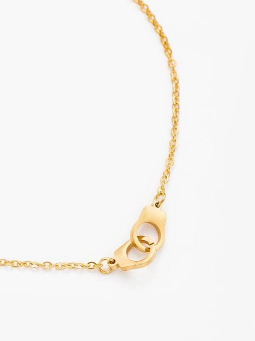 YAYACH Handcuffs shape European and American fashion stainless steel bracelet 1
