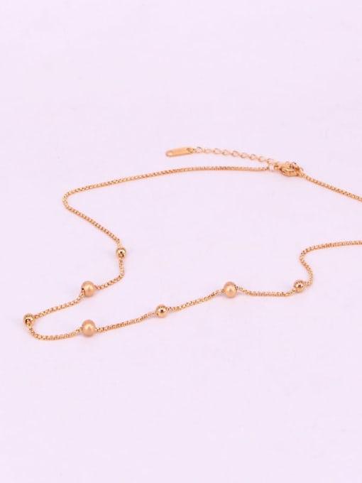 K.Love Titanium Steel Bead Round Minimalist Necklace 2