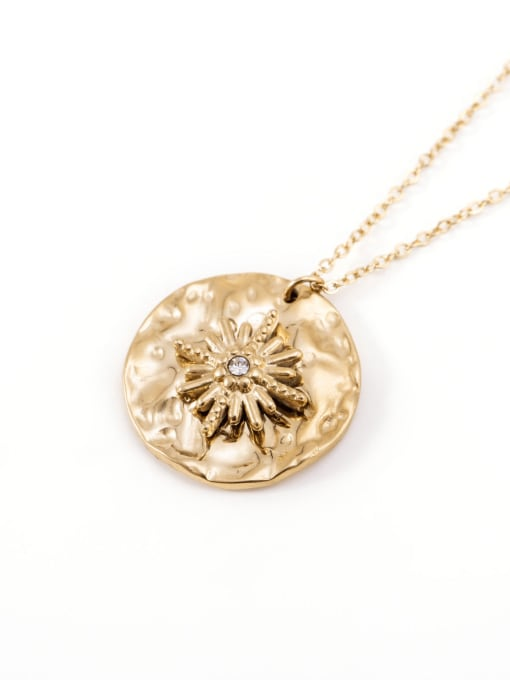 YAYACH Vintage simple all-match coin pendant golden necklace 1