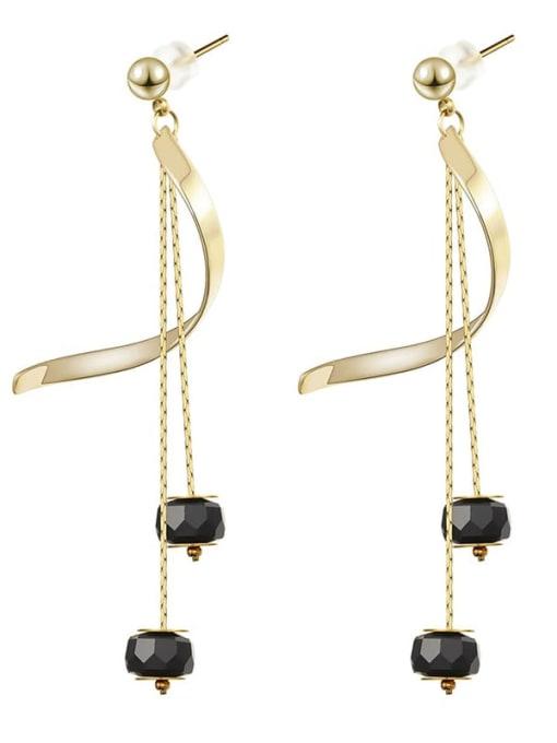 YAYACH Long crystal thin temperament Tassel Earrings 3