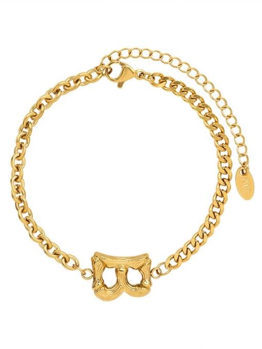 MAKA Titanium Steel Geometric Chain Vintage Link Bracelet