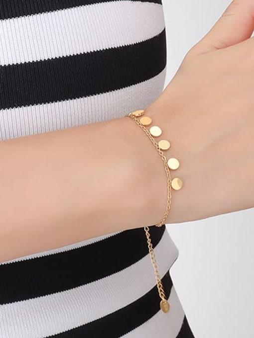 MAKA Titanium Steel Minimalist Round  Bracelet and Necklace Set 2