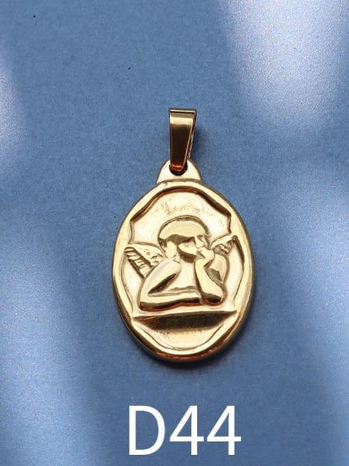 D44 gold Stainless steel Geometric  Vintage Pendant
