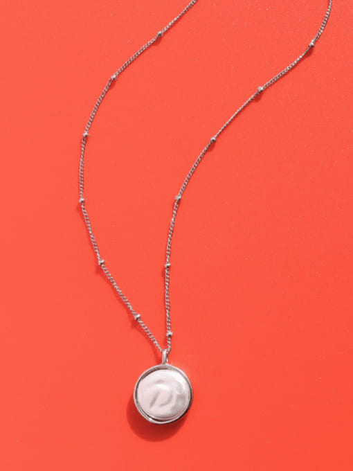 MAKA Titanium Steel Shell Geometric Minimalist Necklace 1