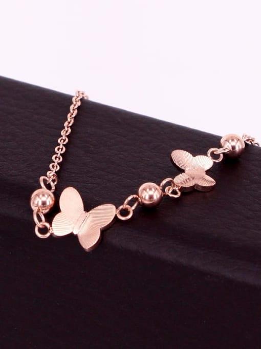 K.Love Titanium Steel Butterfly Minimalist Beaded Bracelet 3