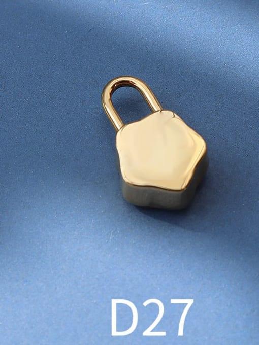 D27 gold star lock Titanium Steel Cute  Lock Heart Pendant