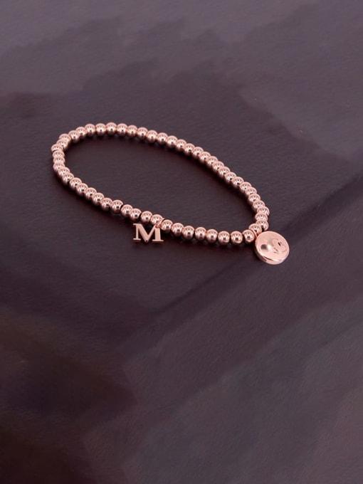 K.Love Titanium Steel Bead Mouse Minimalist Beaded Bracelet 3