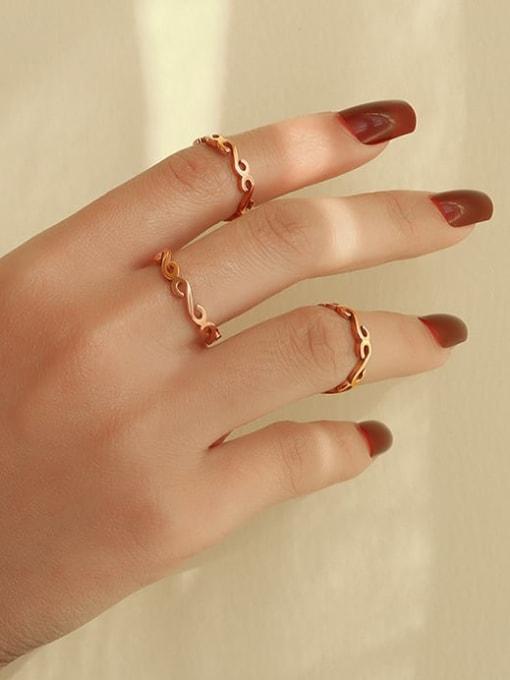 MAKA Titanium Steel Letter Minimalist Band Ring 1
