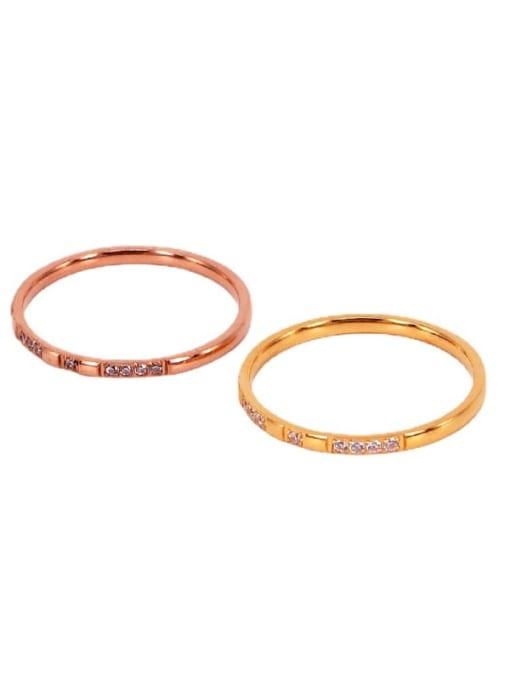 K.Love Titanium Steel Cubic Zirconia Geometric Minimalist Band Ring 3