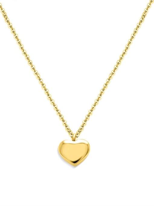 MAKA Titanium Steel Heart Minimalist Necklace 0