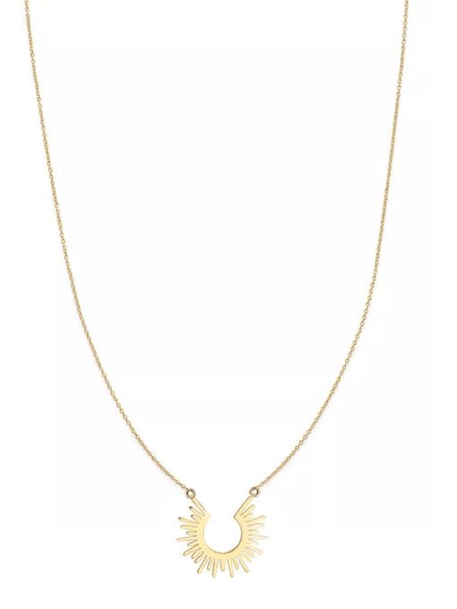 YAYACH European and American style simple sun 18K titanium steel short necklace 0