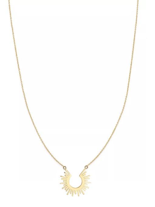 YAYACH European and American style simple sun 18K titanium steel short necklace