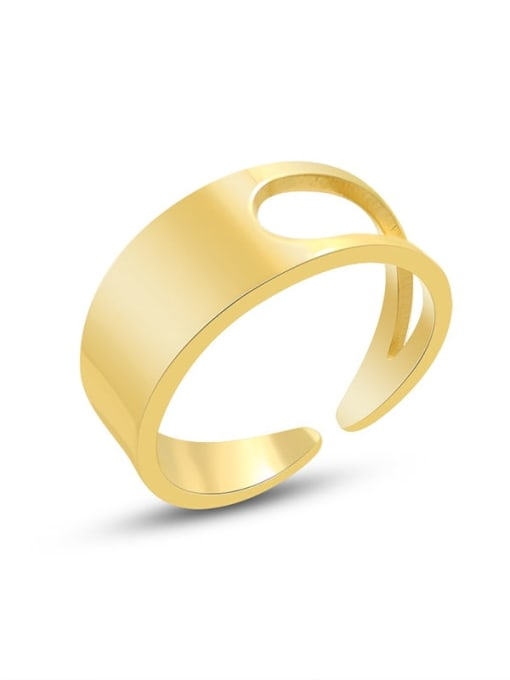 MAKA Titanium Steel Smooth Geometric Minimalist Band Ring