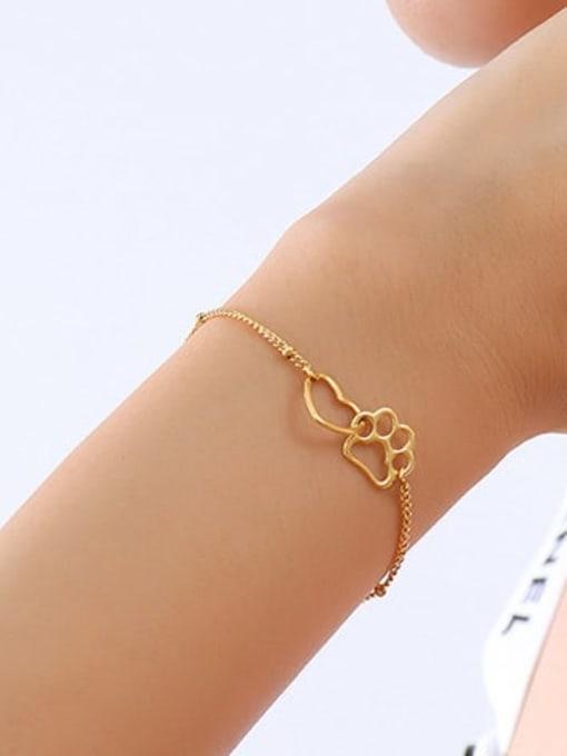 MAKA Titanium Steel Hollow Heart Minimalist Link Bracelet 2
