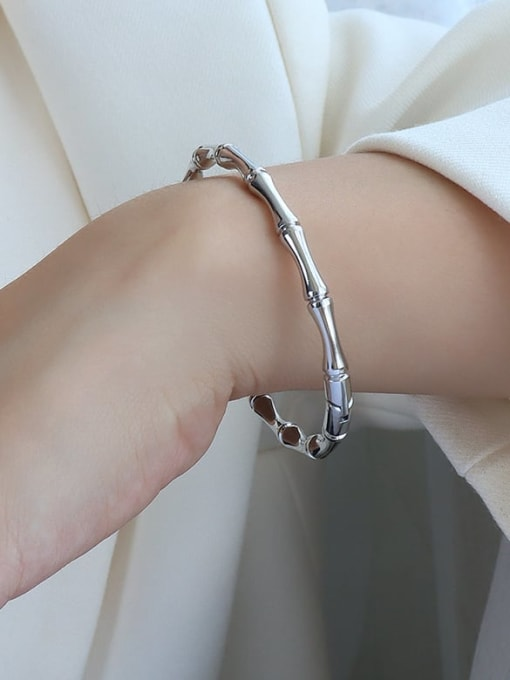 Z220 steel Titanium 316L Stainless Steel Geometric Vintage Band Bangle with e-coated waterproof
