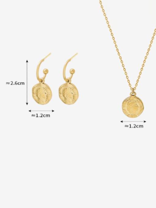 MAKA Titanium Steel Minimalist Geometric Earring and Necklace Set 4
