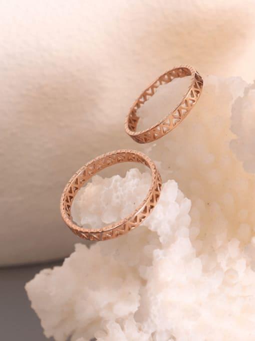 MAKA Titanium Steel Hollow Heart Minimalist Band Ring 1