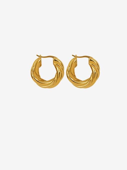 MAKA Titanium Steel Geometric Vintage Stud Earring